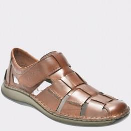Sandale RIEKER maro, 5273, din piele naturala