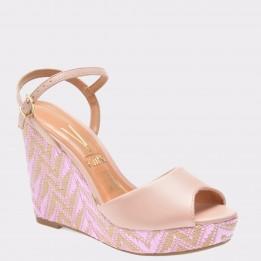Sandale roz, 1832306, din piele ecologica