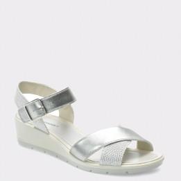 Sandale SALAMANDER argintii, 20701, din piele naturala