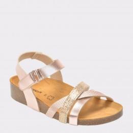 Sandale SALAMANDER aurii, 13103, din piele ecologica
