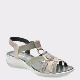 Sandale SALAMANDER gri, 83605, din piele naturala