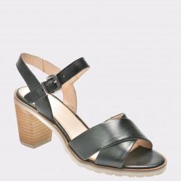 Sandale SALAMANDER negre, 20401, din piele naturala