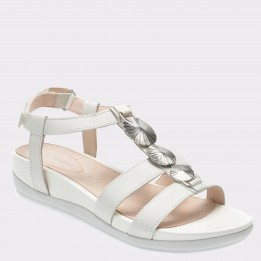 Sandale STONEFLY albe, Eve13, din piele naturala