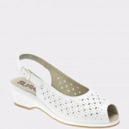 Sandale SUAVE albe, 0279Pt, din piele naturala