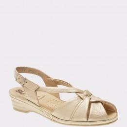 Sandale SUAVE bej, 0012T, din piele naturala