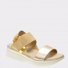 Sandale THE FLEXX aurii, Fonzie9, din piele ecologica