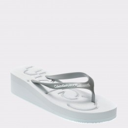 Slapi CALVIN KLEIN albi, R4117, din PVC
