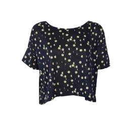 Tricou H&M Dots Dark Blue