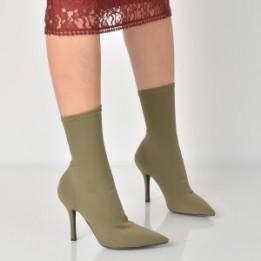 Cizme EPICA kaki, 112, din material textil
