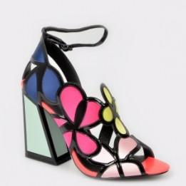 Sandale KAT MACONIE FOR EPICA multicolore , Vivi, din material textil si piele naturala