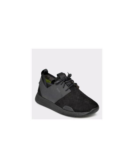 Pantofi sport HUGO BOSS negri, 8125, din piele intoarsa
