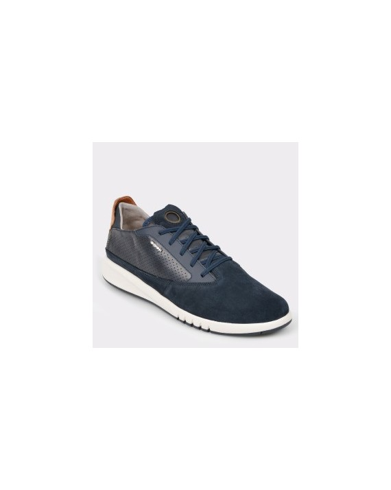 Pantofi GEOX bleumarin, U927FA, din piele naturala