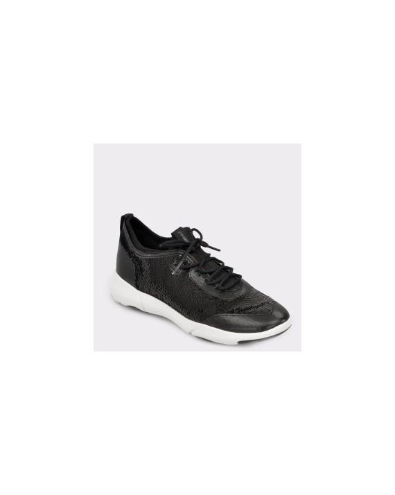 Pantofi sport GEOX negri, D92Bha, din piele ecologica
