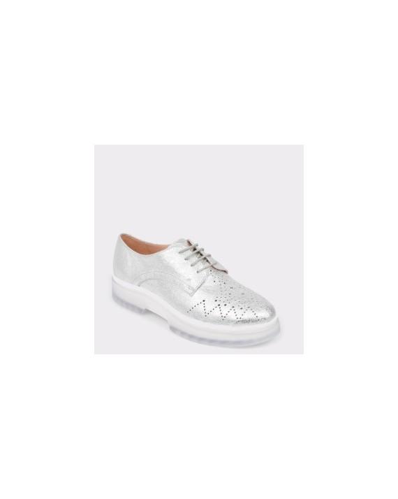 Pantofi GEOX argintii, D929Wc, din piele intoarsa
