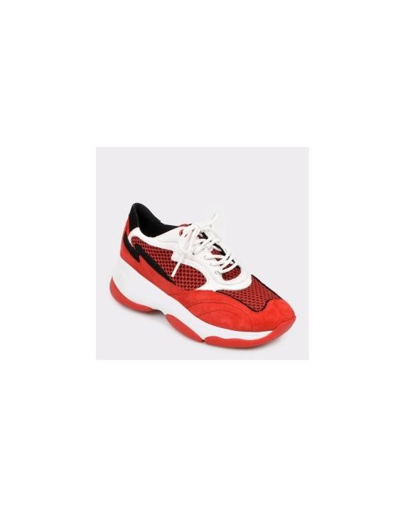 Pantofi sport GEOX rosii, D92Bpb, din piele ecologica