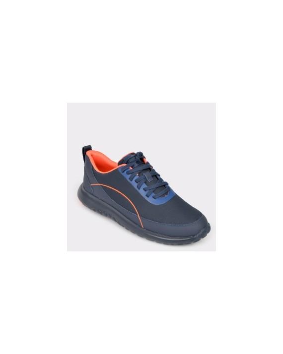 Pantofi CAMPER bleumarin, K100406, din material textil si piele naturala