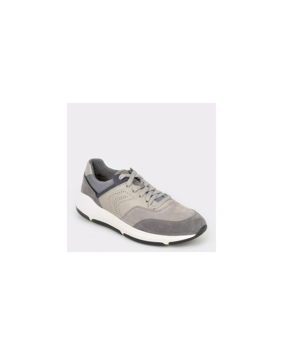 Pantofi sport GEOX gri, U926La, din piele naturala