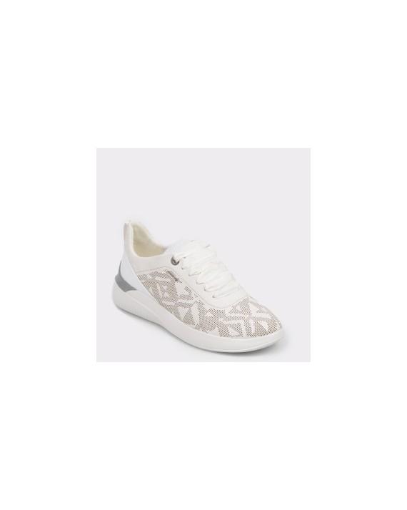 Pantofi sport GEOX albi, D828Sc, din piele ecologica