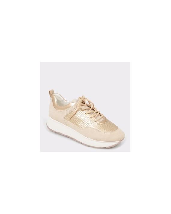Pantofi sport GEOX crem, D925Tb, din piele ecologica
