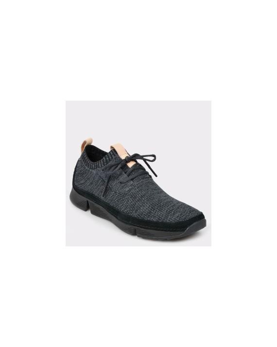 Pantofi sport CLARKS negri, Trinati, din material textil