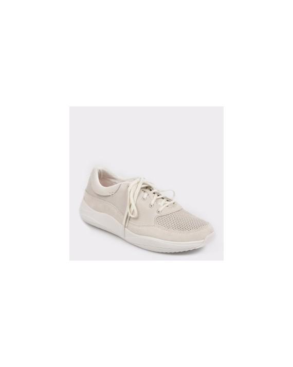 Pantofi sport CLARKS albi, Sift91, din piele naturala
