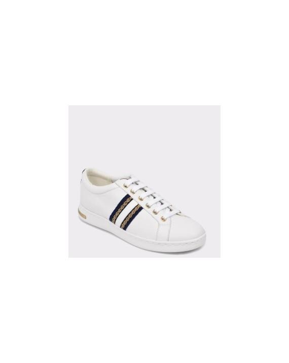 Pantofi sport GEOX albi, D921Ba, din piele intoarsa