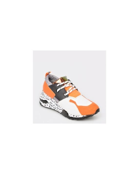 Pantofi sport STEVE MADDEN portocalii, Cliff, din material-textil