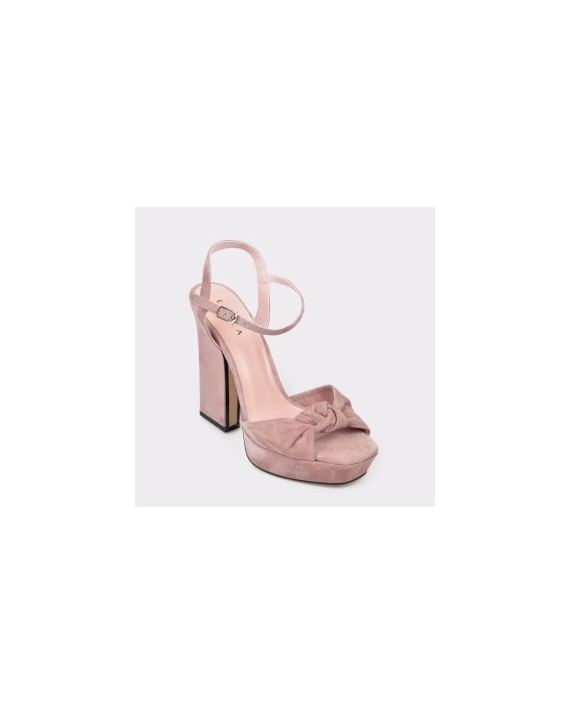 Sandale EPICA roz, 941A61, din piele intoarsa