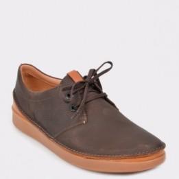 Pantofi CLARKS maro, Oakllac, din piele naturala