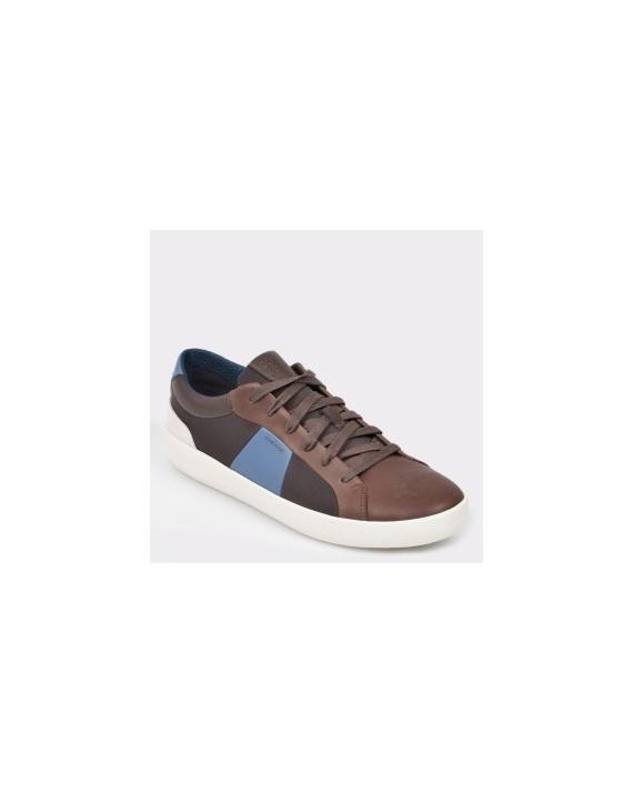 Pantofi GEOX maro, U926Hb, din piele naturala si material textil