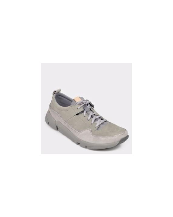 Pantofi sport CLARKS gri, Triacru, din nabuc