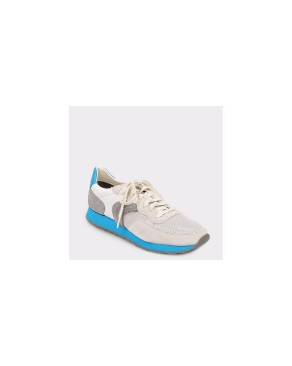 Pantofi sport GEOX gri, U845Vb, din piele naturala si material textil