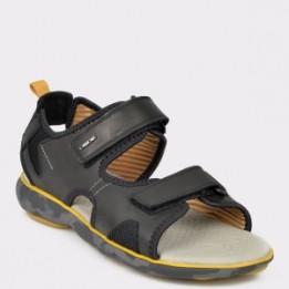 Sandale GEOX negri, U926Wb, din material textil