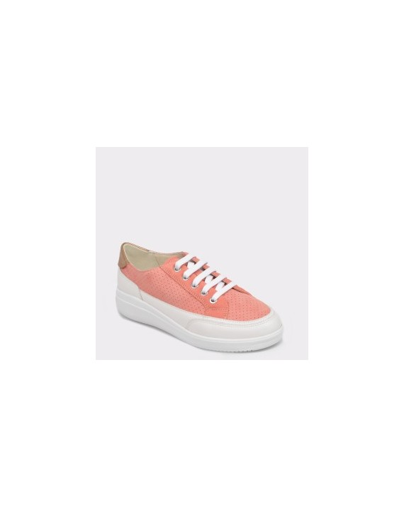 Pantofi sport GEOX corai, D84Bdc, din piele ecologica