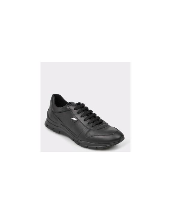 Pantofi sport GEOX negri, D52F2A, din piele naturala