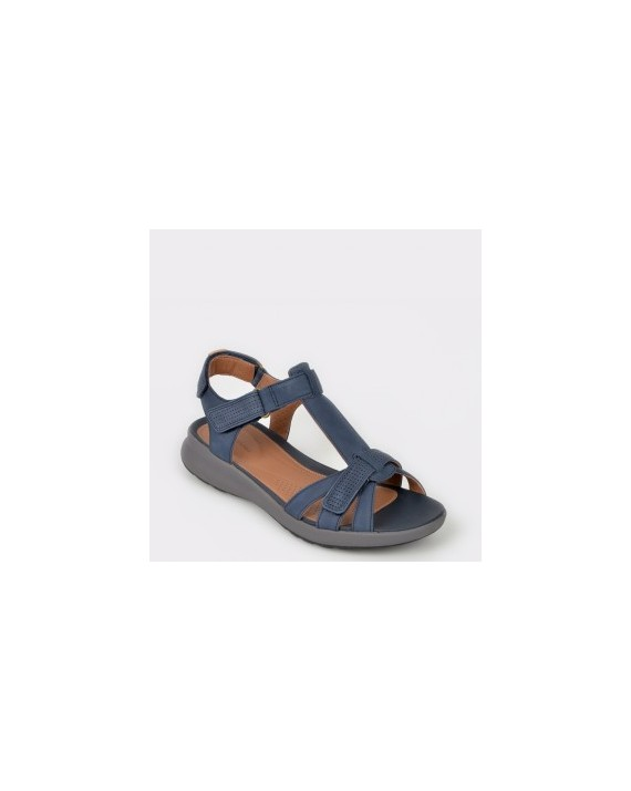 Sandale CLARKS bleumarin, Unadovi, din nabuc