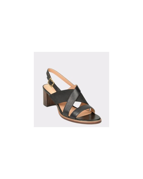 Sandale CLARKS negre, Ellitil, din piele naturala