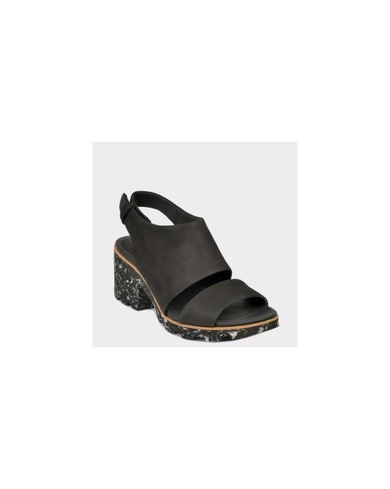 Sandale CLARKS negre, Renesie, din nabuc