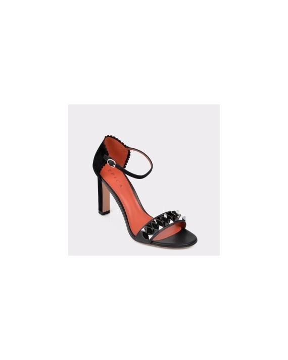 Sandale EPICA negre, Tyl2313, din piele intoarsa