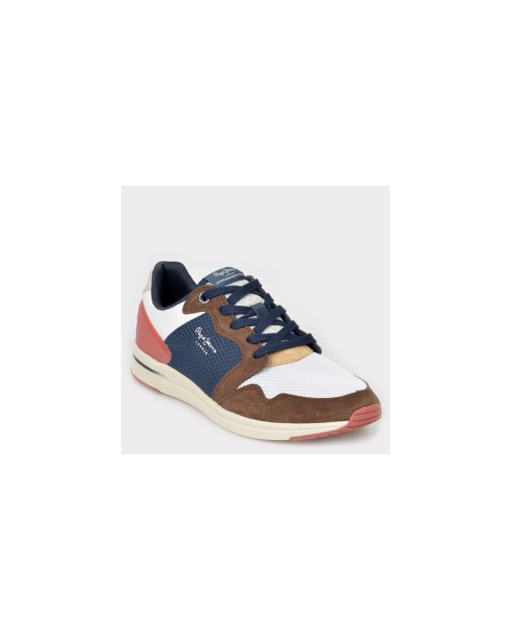 Pantofi sport PEPE JEANS maro, Ms30515, din material textil