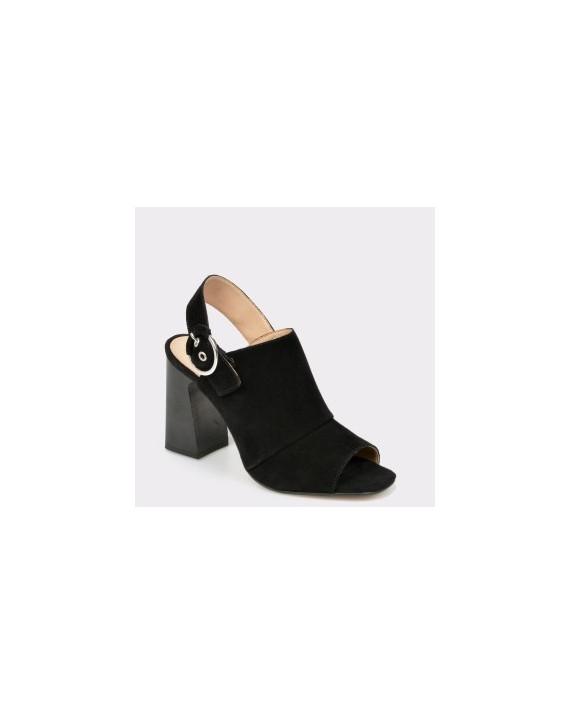 Sandale ALDO negre, Elalyan, din piele intoarsa