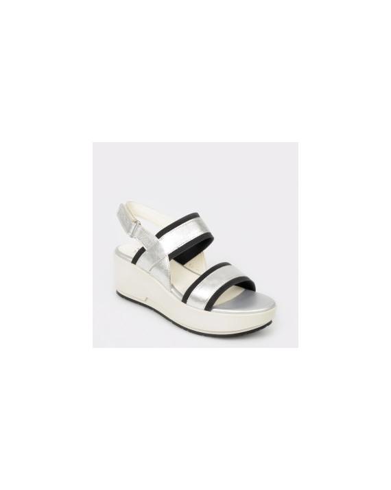 Sandale STONEFLY argintii, Ketty10, din piele naturala
