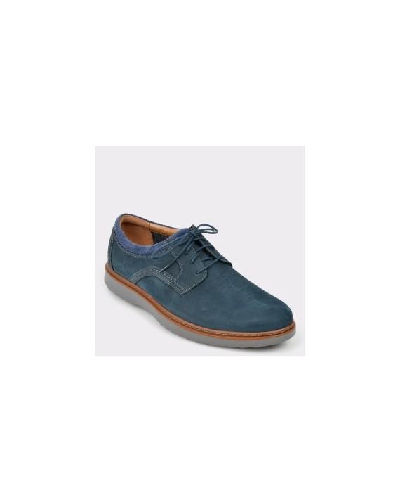 Pantofi CLARKS bleumarin, Ungeola, din nabuc
