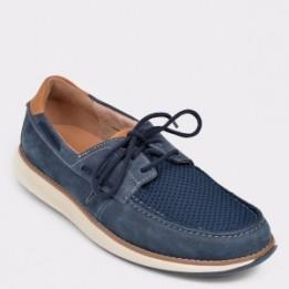 Pantofi CLARKS bleumarin, Unpilla, din nabuc