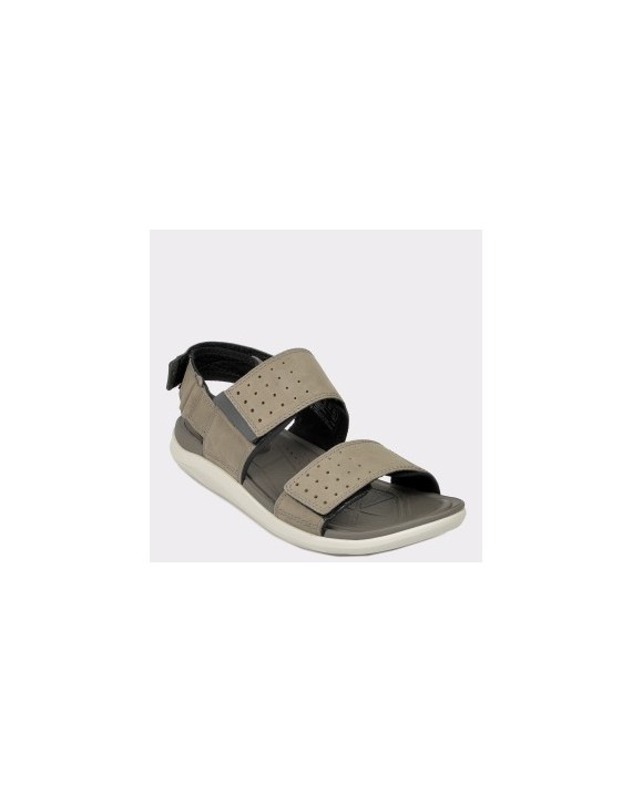 Sandale CLARKS gri, Garract, din nabuc