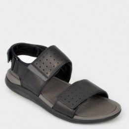Sandale CLARKS negre, Garract, din piele naturala