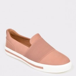 Pantofi CLARKS roz, Unmaust, din nabuc