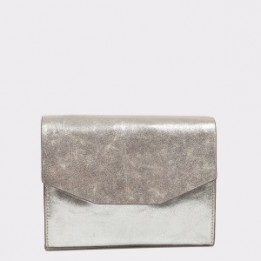 Poseta CLARKS argintie, Treeisl, din piele naturala