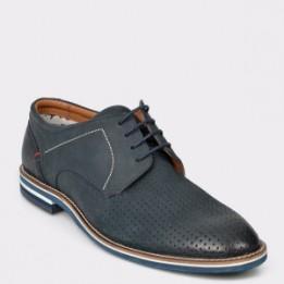 Pantofi SALAMANDER bleumarin, 57330, din nabuc