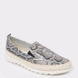 Espadrile The FLEXX gri, Chappie, din piele naturala